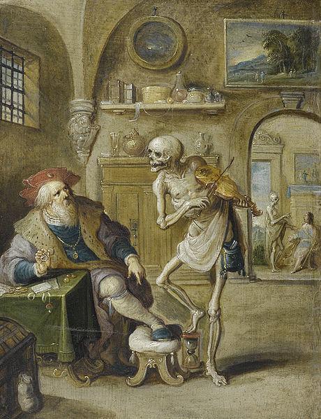 Frans Francken II Der geigende Tod